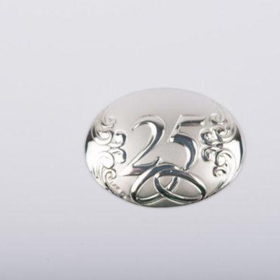 placchetta argento anniversario