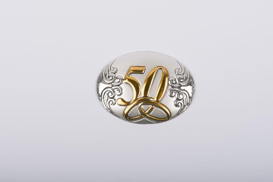 Placchetta In Argento 50 Anni Di Matrimonio Italy Album