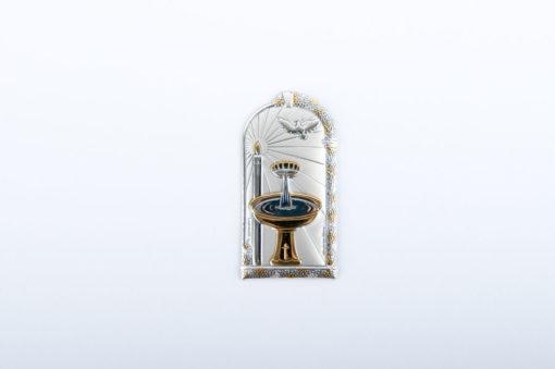 placchetta argento per album battesimo