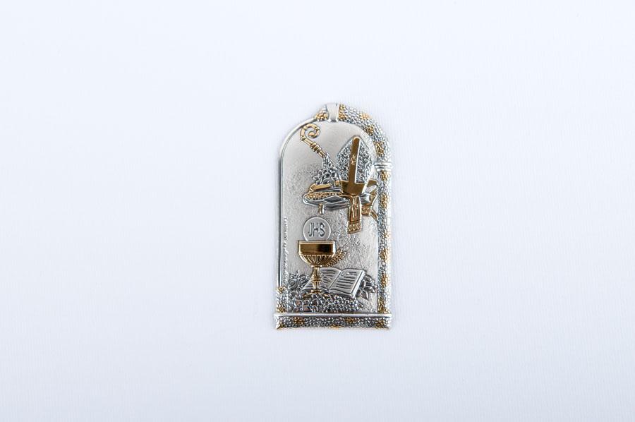 placchetta in argento comunione