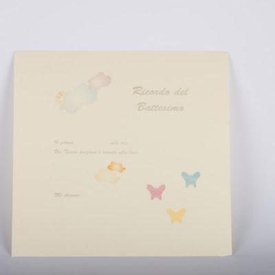 pagine decorate per album battesimo